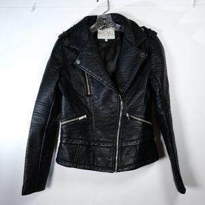 Rachel Roy Faux Leather Moto Jacket Size S EUC